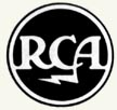 RCA logo, A.K.A., The Meatball.  The letters R C A connected together by ligatures on the bases 